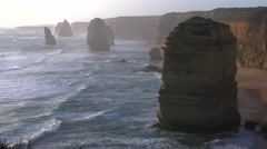 Australia Great Ocean Road 12 Apostles large sea stack Stock Footage