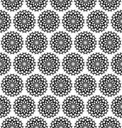 Repeating black white ornament pattern - stock illustration