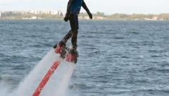 Flyboard Rider Stock Footage