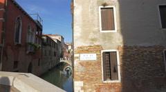 Rio de la Toletta in Venice Stock Footage