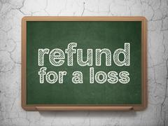 Stock Illustration of Insurance concept: Refund For A Loss on chalkboard background