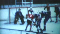 Lopsided Win At Youth Ice Hockey Game-1970 Vintage 8mm film - stock footage