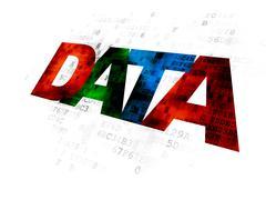 Stock Illustration of Data concept: Data on Digital background