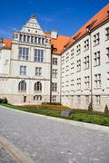 Historic building of the University of Technology, Wroclaw - stock photo