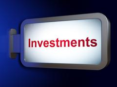 Stock Illustration of Banking concept: Investments on billboard background