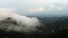 Pineville Overlook Toward Cumberland Gap - stock footage