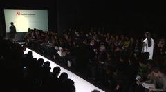 The Art Institute Show Fall 2015 Collection NYFW Alexa DiBiasio Stock Footage