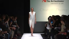 The Art Institute Show Fall 2015 Collection NYFW Chutian Zhong Stock Footage
