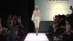 The Art Institute Show Fall 2015 Collection NYFW Daniel Ramirez Stock Footage