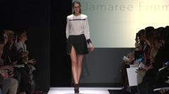 The Art Institute Show Fall 2015 Collection NYFW Jamaree Eiamman Stock Footage