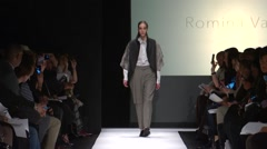 The Art Institute Show Fall 2015 Collection NYFW Romina Vairo Stock Footage