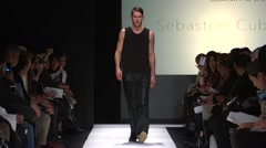 The Art Institute Show Fall 2015 Collection NYFW Sebastian Cubid Stock Footage