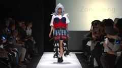 The Art Institute Show Fall 2015 Collection NYFW Zong Peng Stock Footage