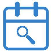 Audit Date Icon Stock Illustration
