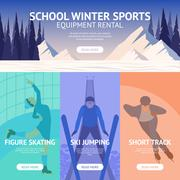 Winter Sport Banner Stock Illustration