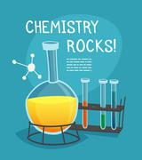 Stock Illustration of Chemical Laboratory Cartoon Concept