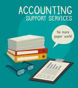Accounting Support Services Concept Stock Illustration