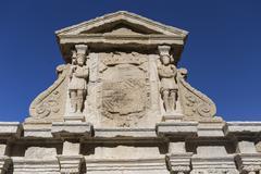 Detail of Fountain of Saint Mary, Baeza, Spain Stock Photos