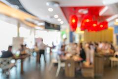 Stock Photo of Cafe restaurant blur background
