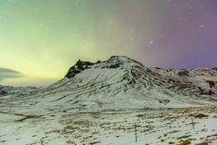 The Northern Light Aurora borealis Stock Photos