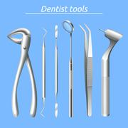 Dentist Tools Set - stock illustration
