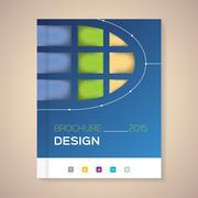 Annual Report Cover vector illustration Stock Illustration