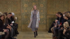 Tori Burch Fashion Show Fall 2015 Collection NYFW 01 Stock Footage