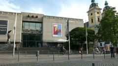4K UHD Düsseldorf Dusseldorf Duesseldorf old town Kunsthalle Arts Hall Stock Footage