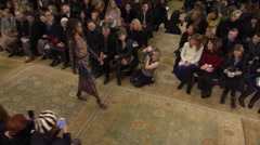 Tori Burch Fashion Show Fall 2015 Collection NYFW 03 Stock Footage