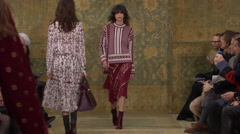 Tori Burch Fashion Show Fall 2015 Collection NYFW 04 Stock Footage