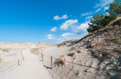 Stock Photo of Sand Dunes And Grass Vegetation Background