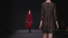 Vivienne Tam Fashion Show Fall 2015 Collection NYFW 05 Stock Footage