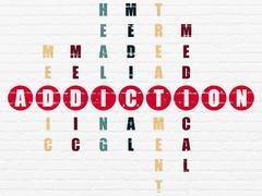 Stock Illustration of Medicine concept: Addiction in Crossword Puzzle