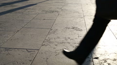 slow motion anonymous people walking in the street - stock footage