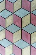 Stock Photo of Showy background  of three color tile pattern