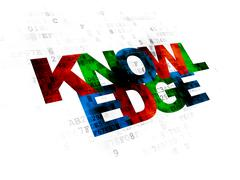 Stock Illustration of Education concept: Knowledge on Digital background