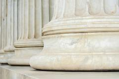 Close-Up Columns Of Yellow Marble - stock photo