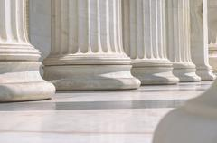 Close-Up Of A Group Of Marble Columns - stock photo