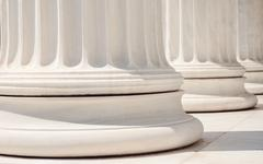 Close-Up Of Marble Columns In The Classical Style Stock Photos