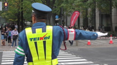 Traffic police officer in Tokyo, Japan  Stock Footage