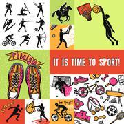 Stock Illustration of Sport Design Concept