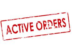 Active orders Stock Illustration