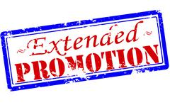 Extended promotion - stock illustration