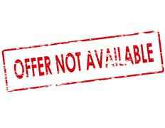 Offer not available - stock illustration