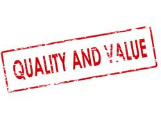 Quality and value - stock illustration