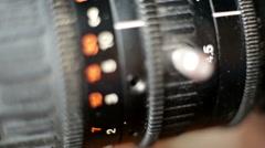 TV Camera,LR Pan Stock Footage
