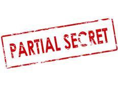 Partial secret - stock illustration