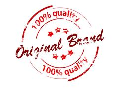 Original brand - stock illustration