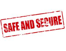 Safe and secure Stock Illustration