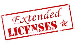 Stock Illustration of Extended licenses